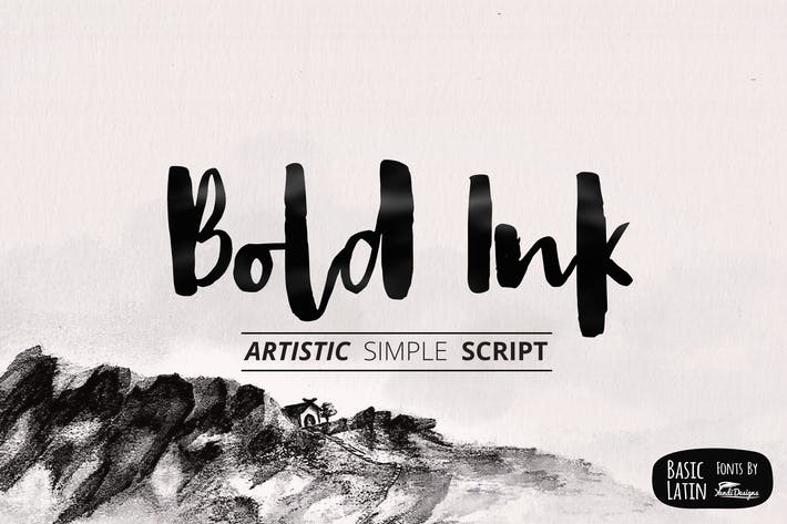 Thumbnail for Bold Ink Simple Font