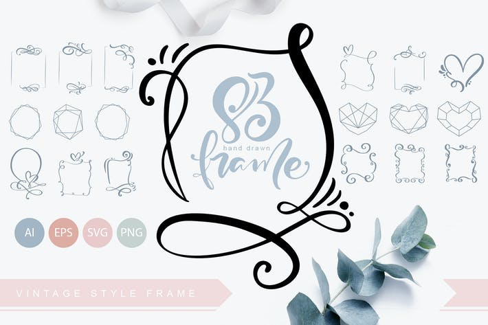 Thumbnail for Hand Drawn Vintage SVG Frames