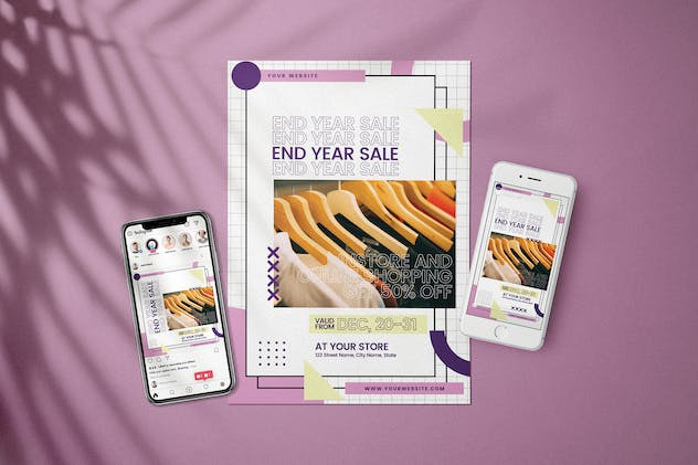 End Year Sale - Flyer Media Kit - product preview 0