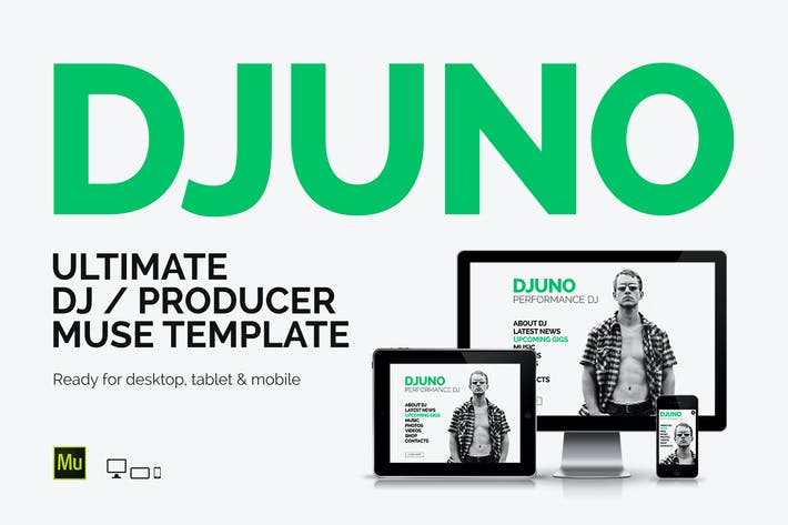 Thumbnail for DJuno - DJ / Producer Website Muse Template