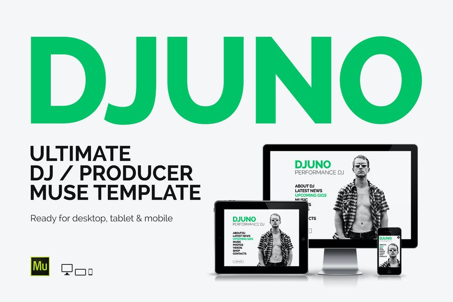 DJuno - DJ / Producer Website Muse Template - product preview 0