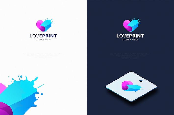 Thumbnail for Love Print Logo Template