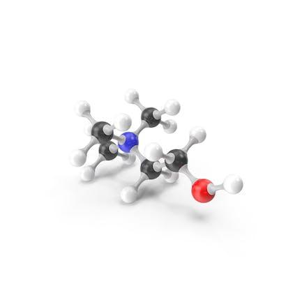 Choline (Vitamin B4) Molecular Model