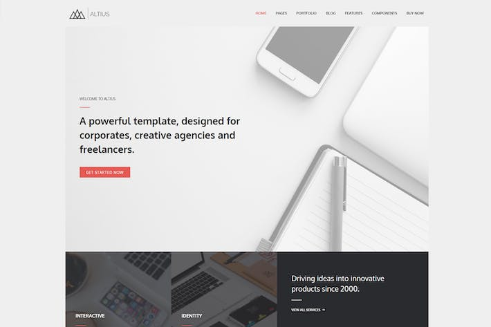 Thumbnail for Altius - Multi-Purpose WordPress Theme