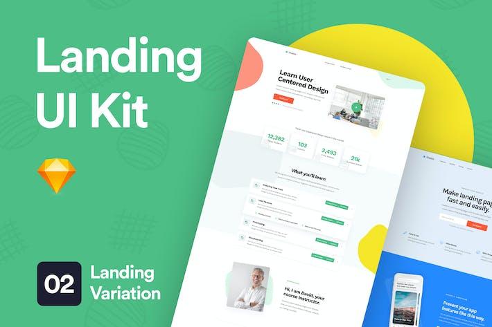 Thumbnail for Landing UI Kit 03