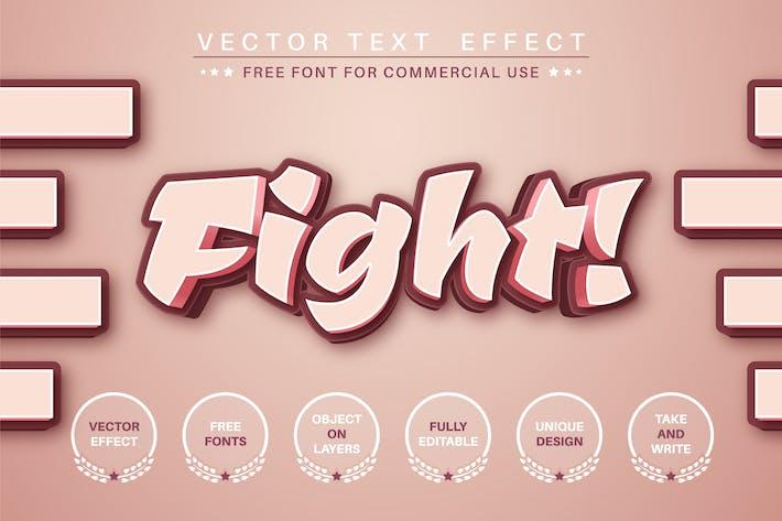 Fight - редактируемый текстовый эффект, стиль шрифта