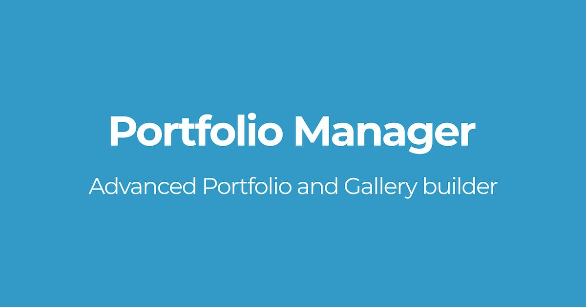 Download Portfolio Manager by OTWthemes