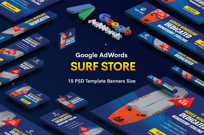 Thumbnail for Surf Board Store Banners Ad v.03