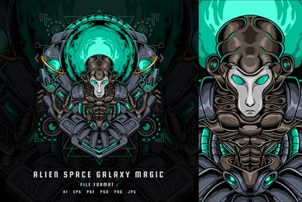 Alien Space Galaxy Magic