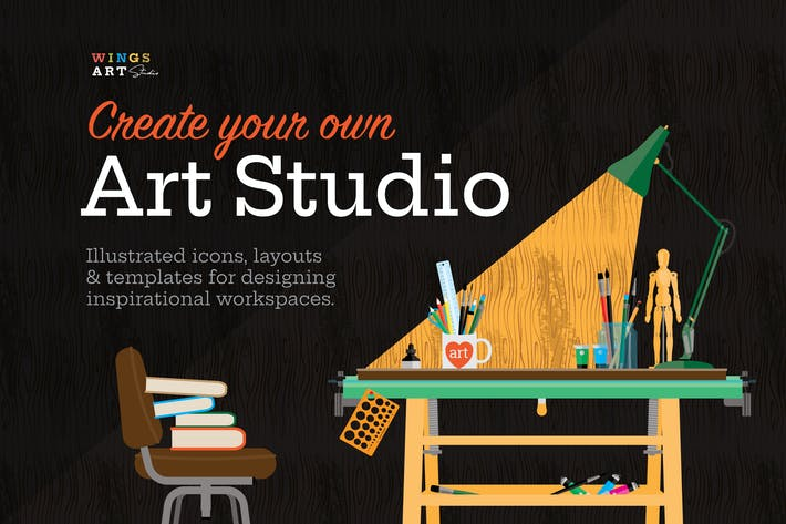 Thumbnail for Art Studio Illustrated Objects and Icons