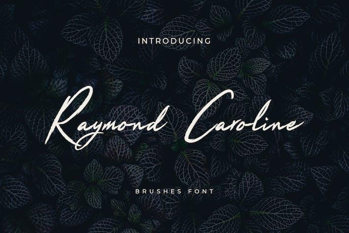 Thumbnail for Raymond Caroline Brush Handwritten Font