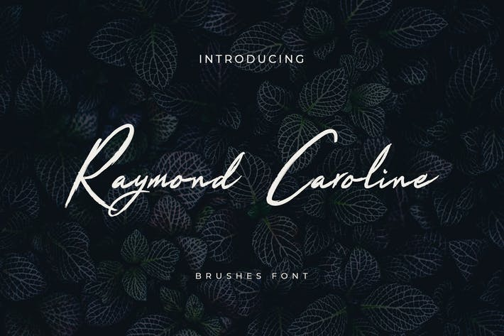 Thumbnail for Raymond Caroline - Fuente manuscrita con pincel