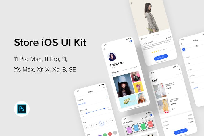 Thumbnail for Store iOS UI Kit (Photoshop)
