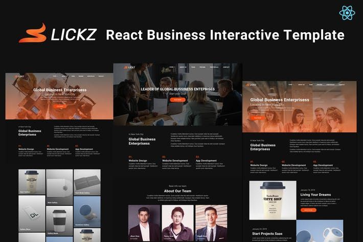 Thumbnail for Slickz - React Business Interactive Template