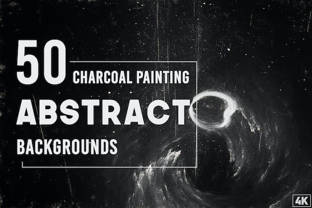 50 Abstract Charcoal Painting Backgrounds