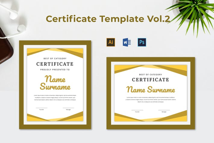Thumbnail for Certificate Template Vol.2