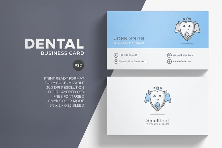 Thumbnail for Dental Business Card Template