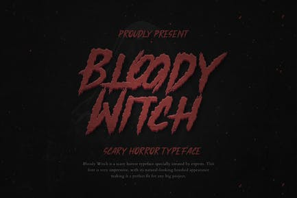 Bloody Witch Horror Instagram Font