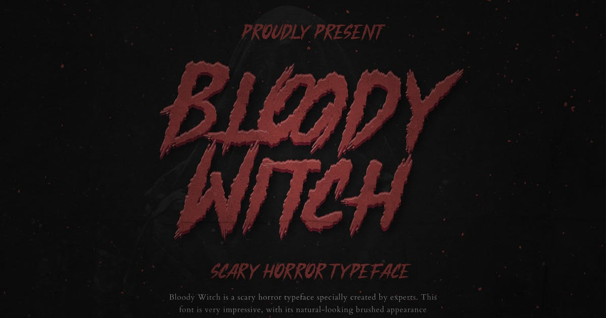 Download Bloody Witch Horror Instagram Font by mikrotypestd