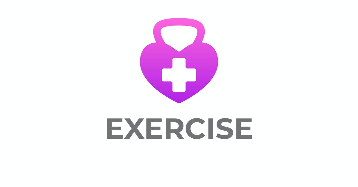 Download Modern Heart Exercise Medical Logo by Suhandi
