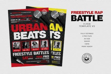 Freestyle Rap Battle Flyer Template V3
