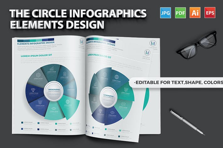 Thumbnail for The Circle Infographic Design