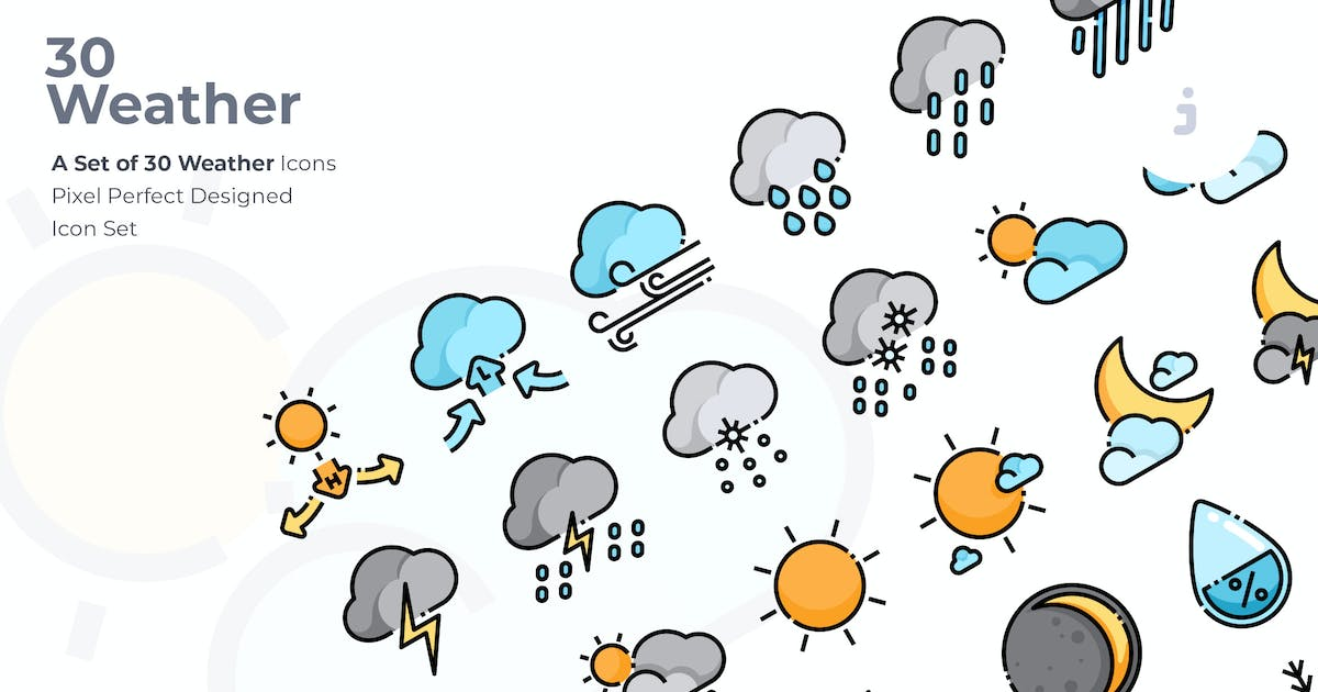 Download 30 Weather Icons by Justicon