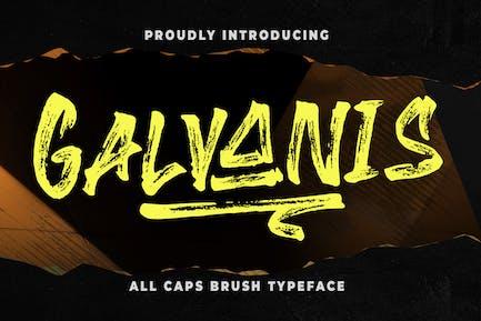 Galvanis All Caps Brush police