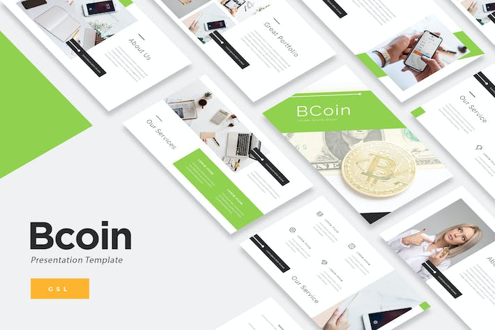 Thumbnail for BCoin - Blockchain Google Slides Template