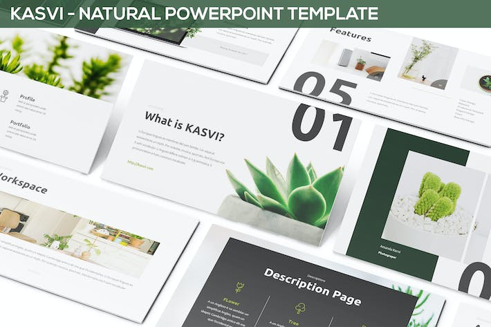 Thumbnail for KASVI - Nature Powerpoint Template