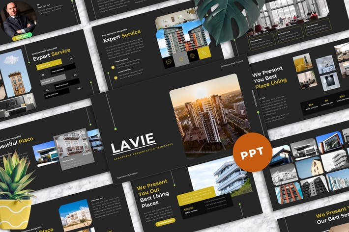 Thumbnail for Lavie - Apartment Powerpoint Templates