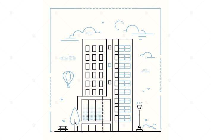 Thumbnail for Modern building - line design style illustration