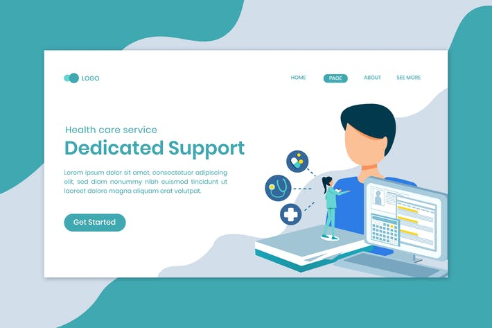 Thumbnail for Medical Service Dedicated Support Landing Page
