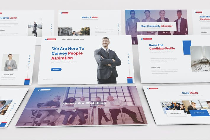 Thumbnail for Political Party Keynote Template