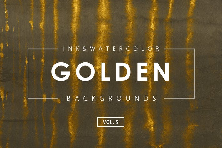 Thumbnail for Golden Ink Backgrounds 5