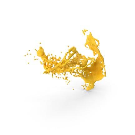 Yellow Liquid Splash Effect