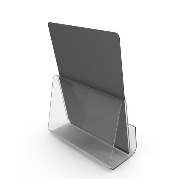 Schwarzes Schreibtisch-Banner mit Ständer