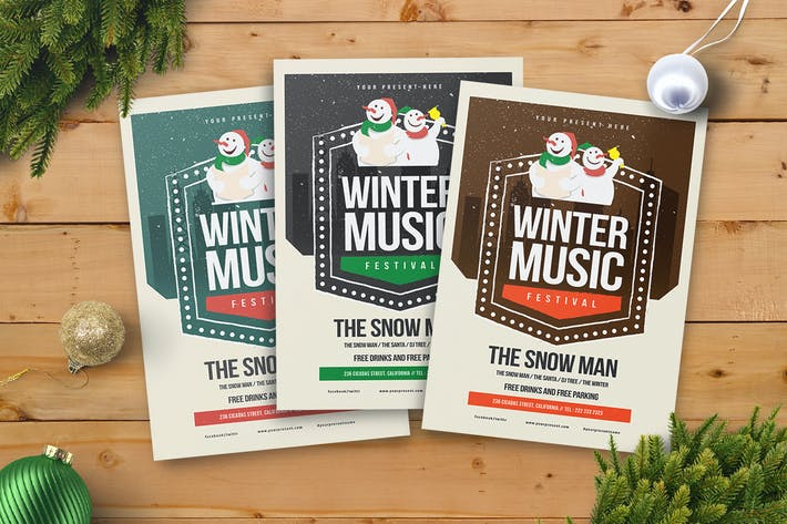 Thumbnail for Winter Music Flyer