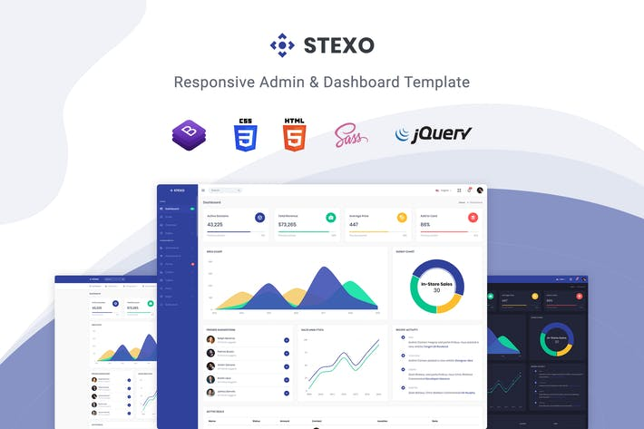 Thumbnail for Stexo - Admin & Dashboard Template