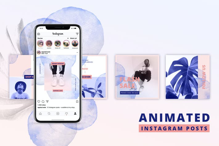 Thumbnail for ANIMATED Instagram Posts – Bold Edition