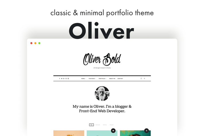Thumbnail for Oliver - Classic & Minimal WordPress Theme