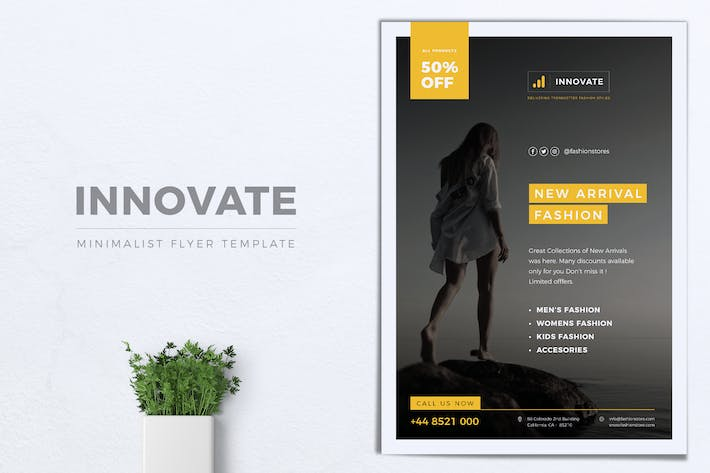 Thumbnail for INNOVATE Minimal Fashion Flyers