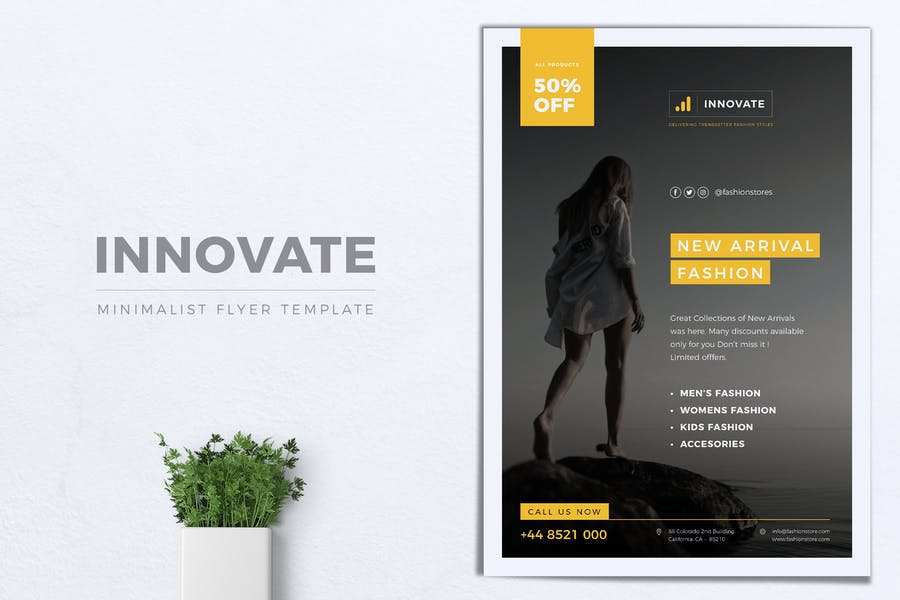 INNOVATE Minimal Fashion Flyers