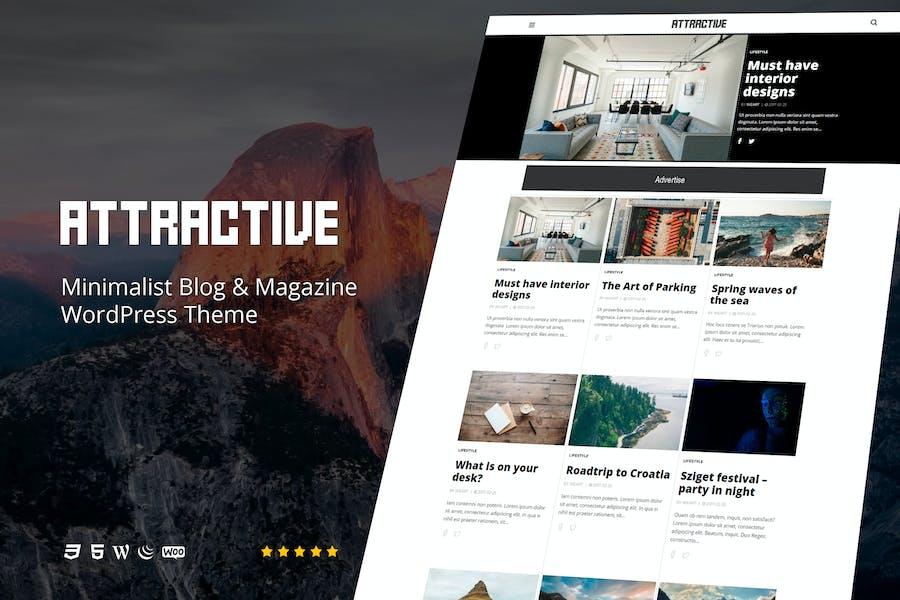 Attractive - Minimalist Blog WordPress Theme