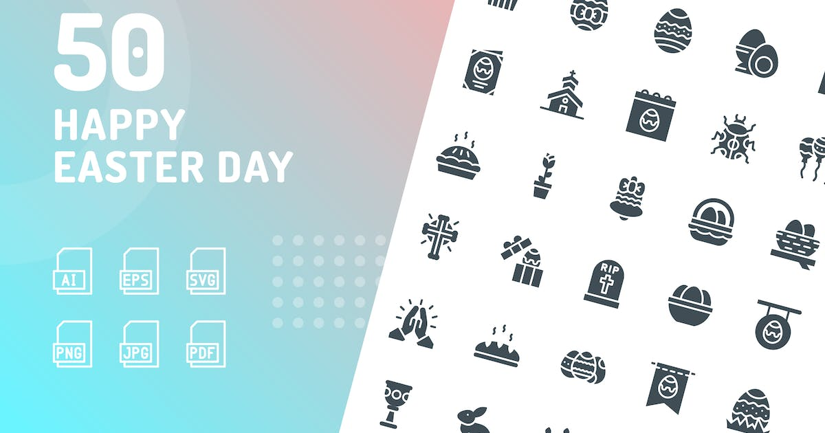 Download Happy Easter Day Glyph Icons by kerismaker