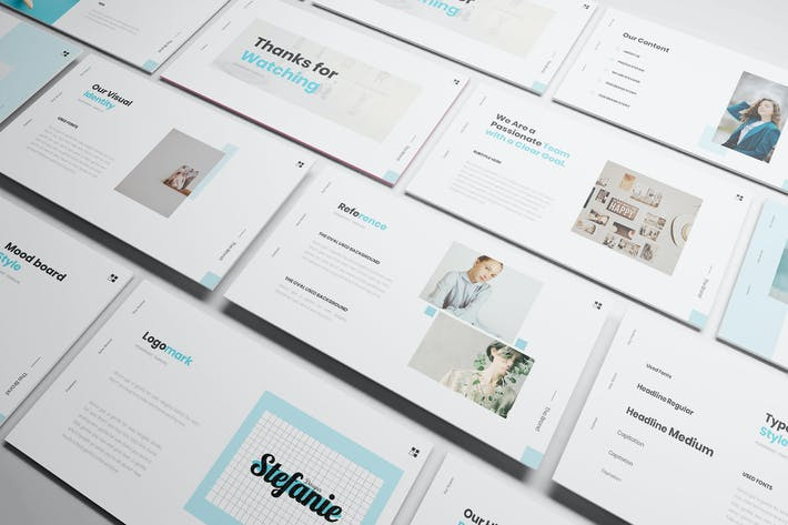 Thumbnail for Stefani Branding Powerpoint Template