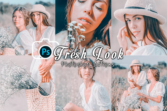 Fresh look Effects Photoshop Actions