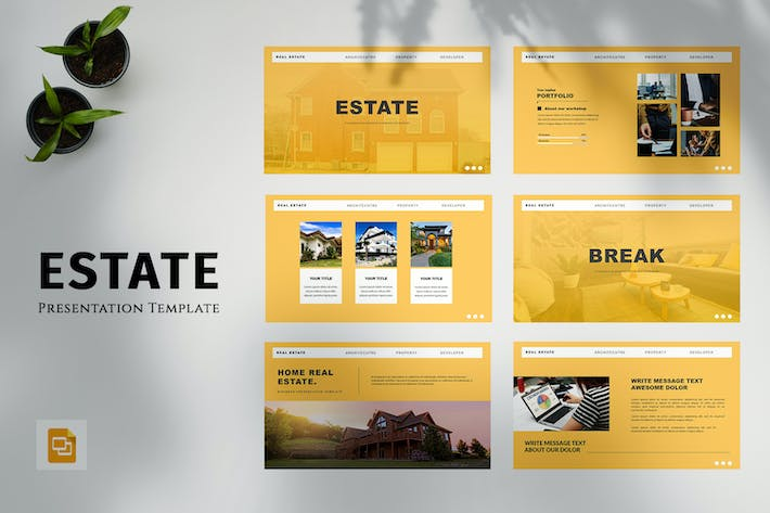 Thumbnail for Estate - Business Google Slides Template