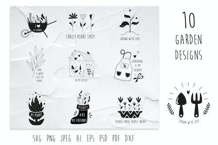 10 Garden Designs, Compositions.