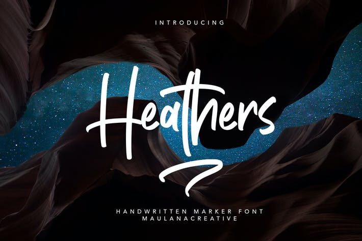 Thumbnail for Heathers Handwritten Brush Font